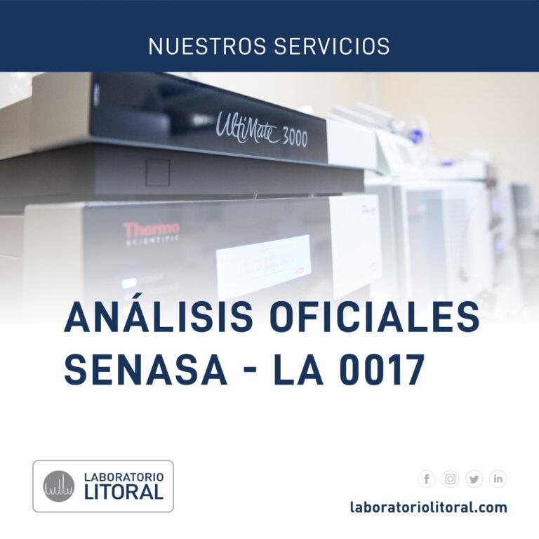 Análisis Oficiales SENASA – LA 0017